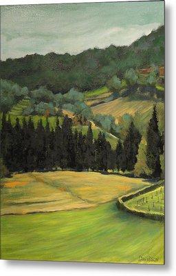 Tuscany View Metal Print