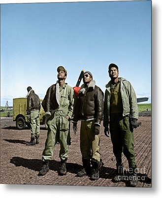 Metal Print featuring the photograph Tuskegee Airmen by Granger
