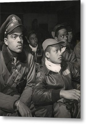 Tuskegee Airmen Of The 332nd Fighter Metal Print by Everett