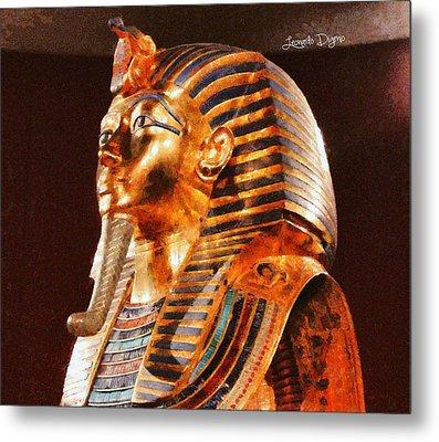 Tutankhamun Golden Mask - Da Metal Print by Leonardo Digenio