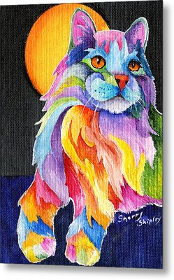 Tutti Fruiti Kitty Metal Print