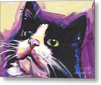 Tuxedo Cat Metal Print by Lea S