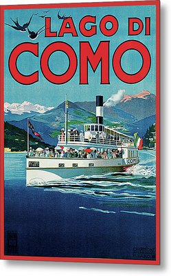 Lago Di Como Metal Print by Unknown Artist