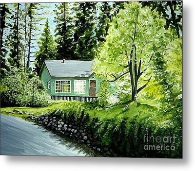 Metal Print featuring the painting Twaine Harte by Elizabeth Robinette Tyndall