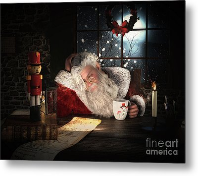 Metal Print featuring the digital art Twas The Night Before Christmas by Shanina Conway