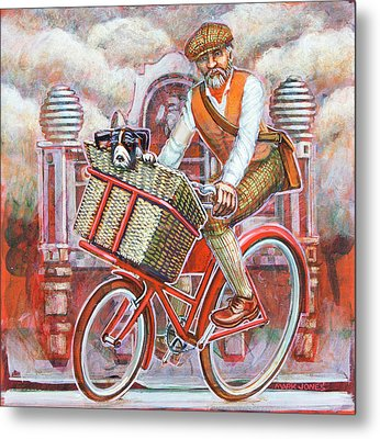 Tweed Runner On Red Pashley Metal Print