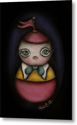 Tweedle Dum Metal Print by  Abril Andrade Griffith