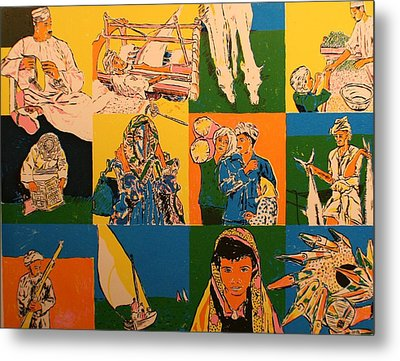 Twelve Scened From Middle East Metal Print by Biagio Civale