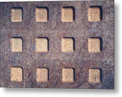 Twelve Squares Metal Print by Scott Norris