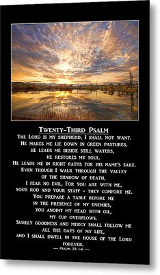Twenty-third Psalm Prayer Metal Print