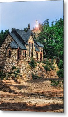 Twilight At Chapel On The Rock Metal Print