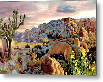 Twilight At Joshua Metal Print