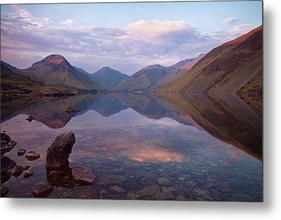 Twilight At Wastwater In Cumbria Metal Print by Pete Hemington