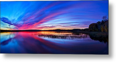 Twilight Burn Panorama Metal Print