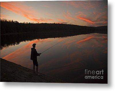 Twilight Fishing Delight Metal Print
