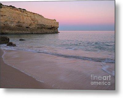 Twilight In Albandeira Beach 2 Metal Print