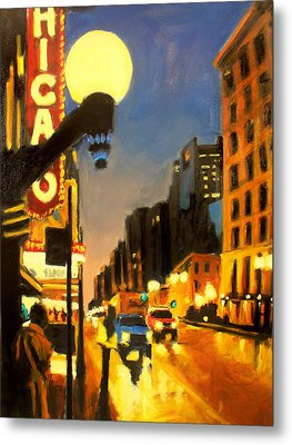 Twilight In Chicago - The Watcher Metal Print by Robert Reeves
