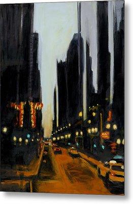 Twilight In Chicago Metal Print by Robert Reeves