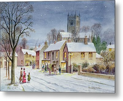 Twilight In The Village Metal Print by Stanley Cooke