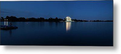 Twilight Jefferson Memorial Panorama Metal Print by Andrew Soundarajan