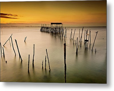 Metal Print featuring the photograph Twilight by Jorge Maia