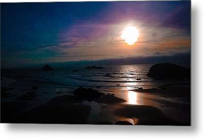 Twilight Low Tide Metal Print