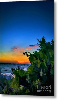 Twilight Mangrove Metal Print