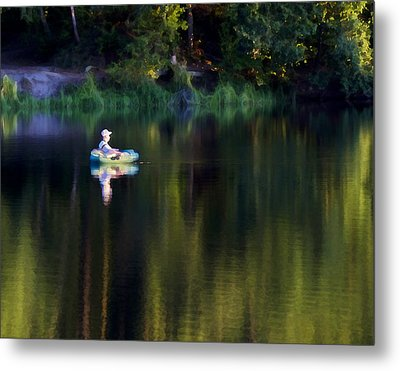 Twilight On The Lake Metal Print by Marion McCristall