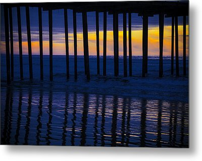 Twilight Pier Metal Print by Garry Gay