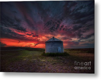 Twilight Steel Metal Print