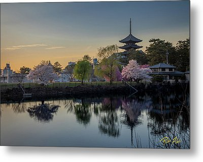 Metal Print featuring the photograph Twilight Temple by Rikk Flohr