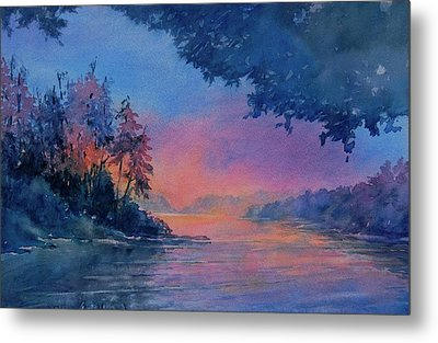 Twilight Time No 4 Eagle Lake Metal Print by Virgil Carter