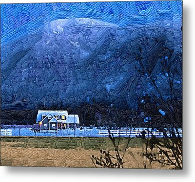 Twilight Winter Metal Print by Robert Bissett