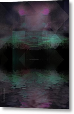 Metal Print featuring the digital art Twilight Zone by Mimulux patricia no No