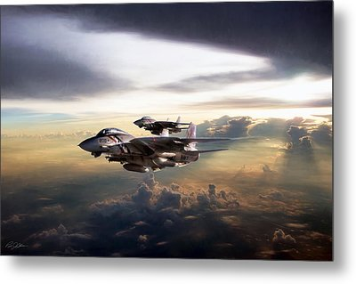 Metal Print featuring the digital art Twilight's Last Gleaming by Peter Chilelli