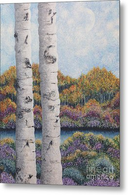 Twin Aspens Metal Print by Holly Carmichael