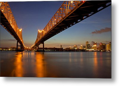 Metal Print featuring the photograph Twin Bridges by Evgeny Vasenev