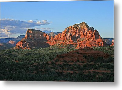 Twin Buttes Sunset Metal Print