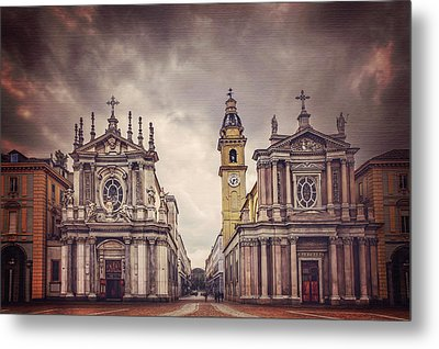 Twin Churches Of Turin  Metal Print by Carol Japp