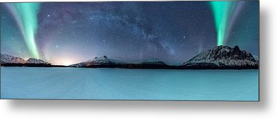 Twin Eruption Metal Print