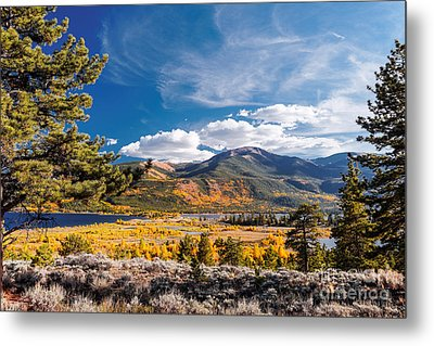 Twin Lakes And Quail Mountain - Independence Pass - In Late September - Rocky Mountains Colorado Metal Print by Silvio Ligutti
