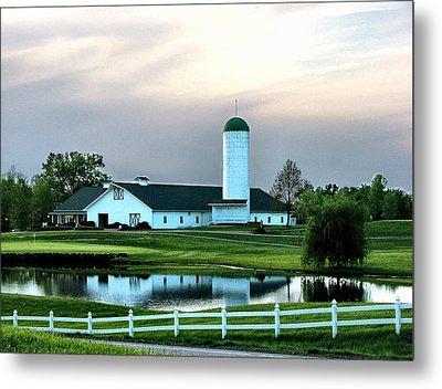 Twin Oaks Farm Metal Print by Julie Dant