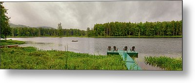 Metal Print featuring the photograph Twin Ponds Landscape by David Patterson