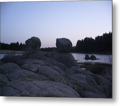 Twin Rocks Metal Print
