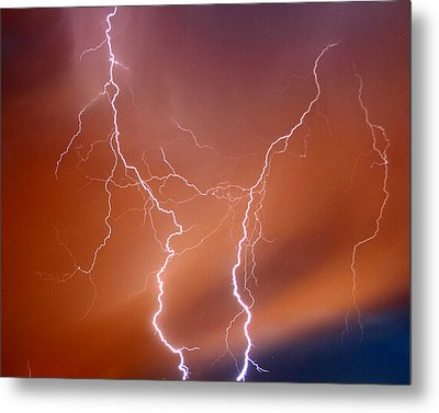 Twin Strike Metal Print by Anthony Jones