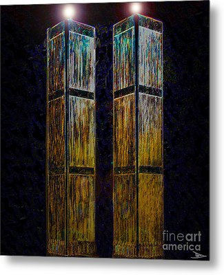 Twin Towers Of Freedom Metal Print by David Lee Thompson