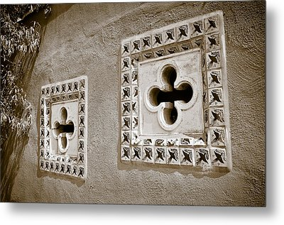 Twin Windows Metal Print by Keith Sanders