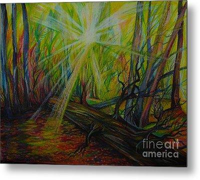 Twinkle Twinkle Autumn Light Metal Print by Anna  Duyunova