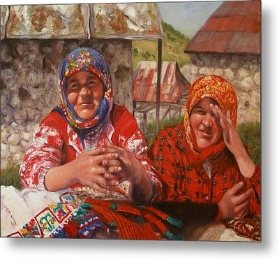 Metal Print featuring the painting Twins by Donelli  DiMaria