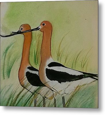 Twins Of Feathers Metal Print by Joetta Beauford